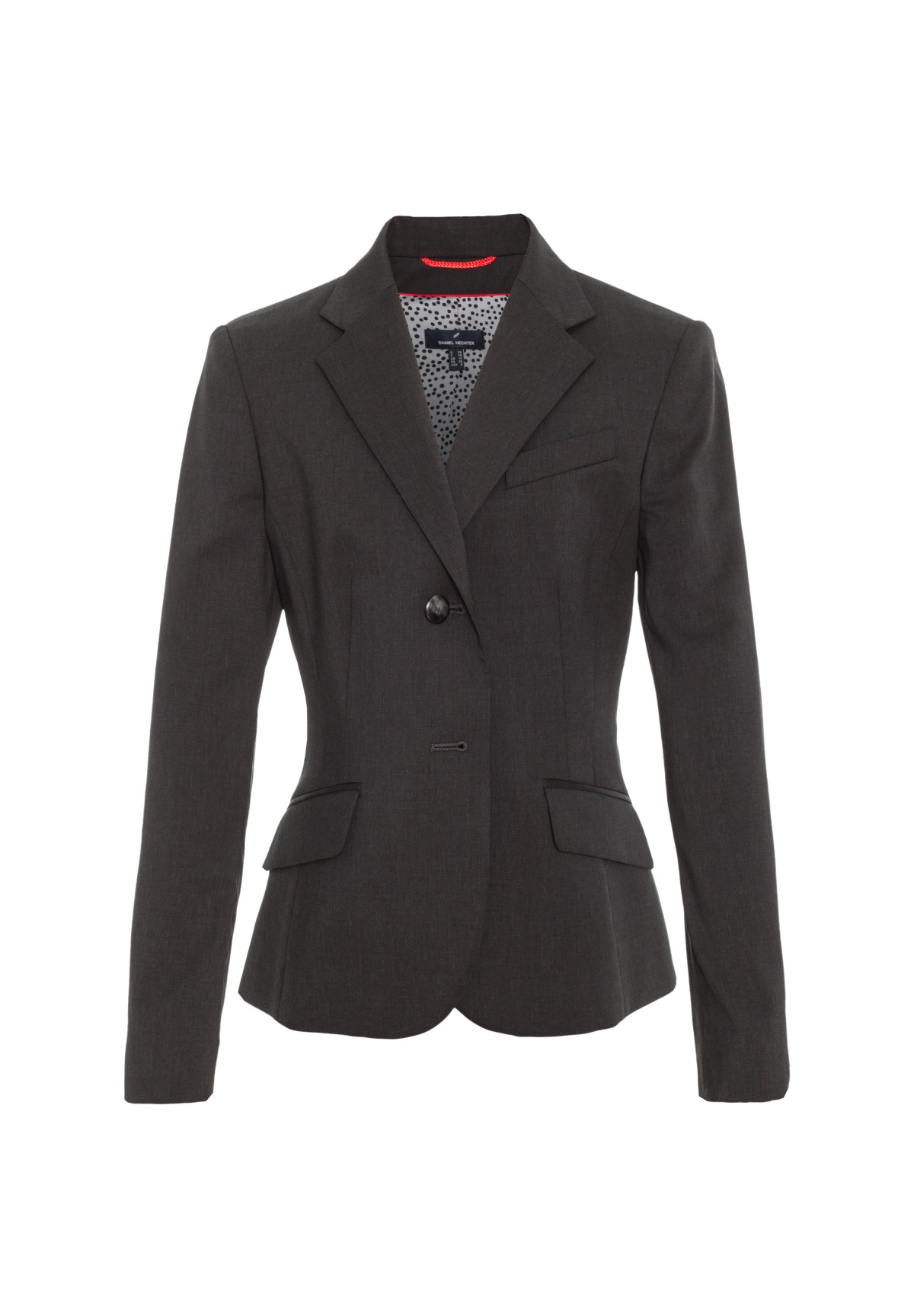 Eleganter Schurwollblazer Careme / Eleganter Schurwollblazer Careme in Tiefschwarz