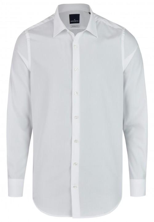 City-Hemd mit Kentkragen, Weiß