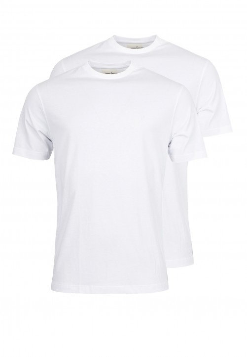 T-Shirt Rundhals Regular-fit, Weiss