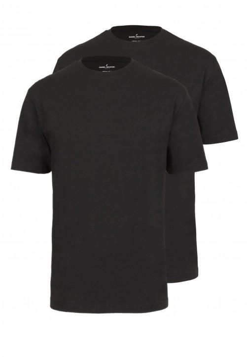 T-Shirt Rundhals Regular-fit, schwarz
