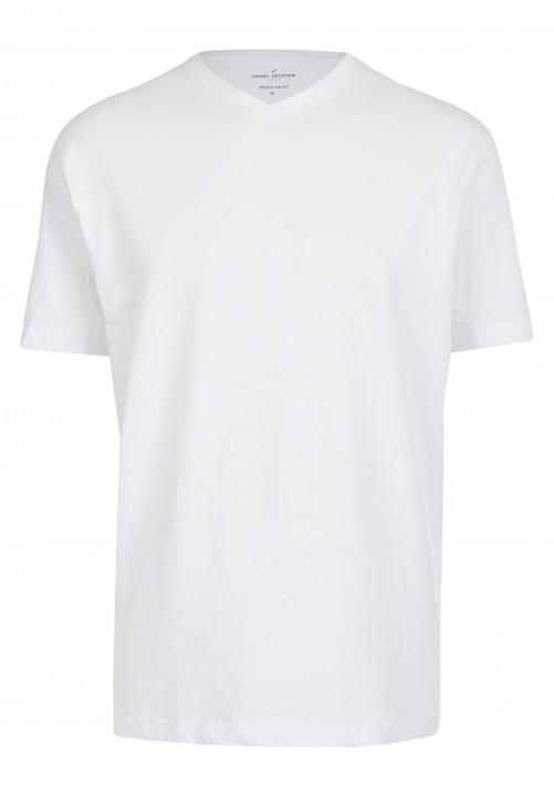 T-Shirt V-Ausschnitt Regular-fit, Weiß