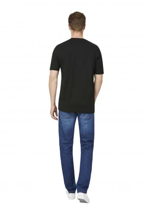 T-Shirt V-Ausschnitt Regular-fit, schwarz