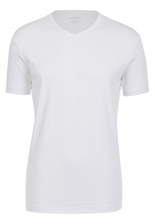 T-Shirt V-Ausschnitt Modern-fit, Weiß