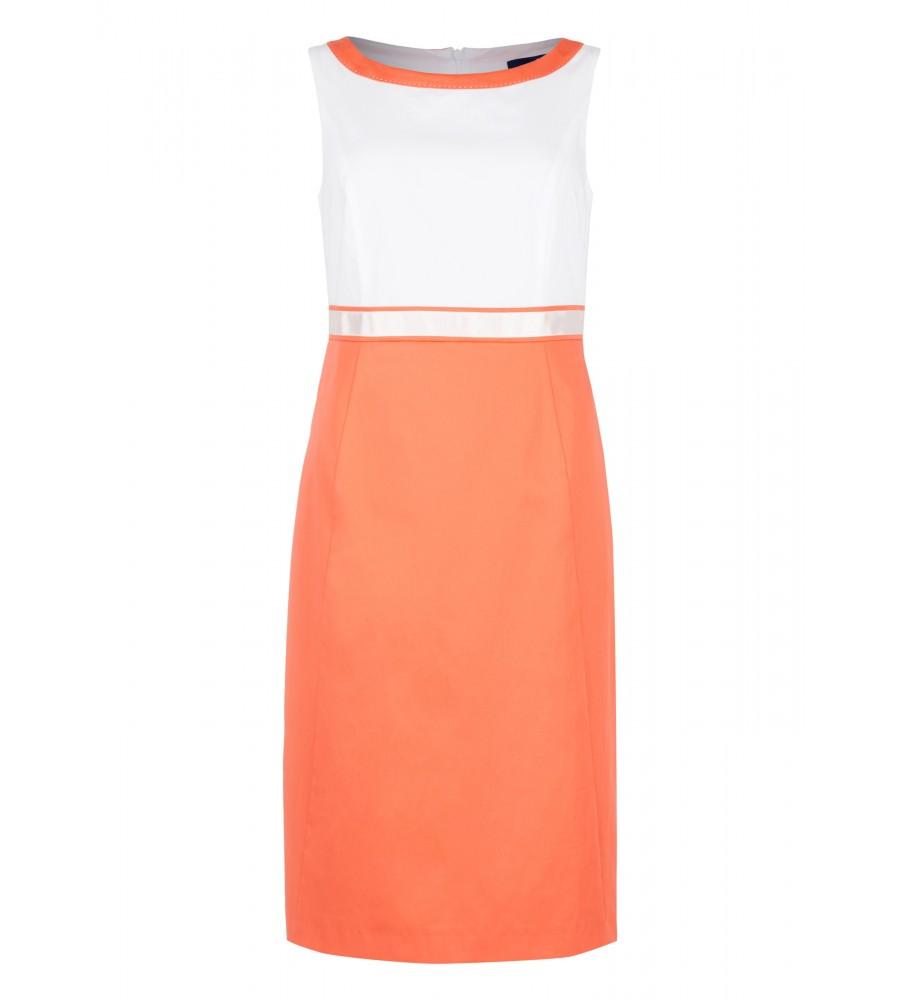 Artikel klicken und genauer betrachten! - Dieses elegante Kleid ist der perfekte Begleiter für Business-Anlässe. Das zweigeteilte Design wirkt zugleich feminin und modisch, während Ziernähte für eine perfekte Silhouette sorgen. Es wird mit einem Reißverschluss am Rücken verschlossen. Durch den hochwertigen Baumwoll-Satin mit Elasthan verfügt es über höchsten Tragekomfort. | im Online Shop kaufen