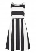 Maritimes Kleid mit Streifenmuster