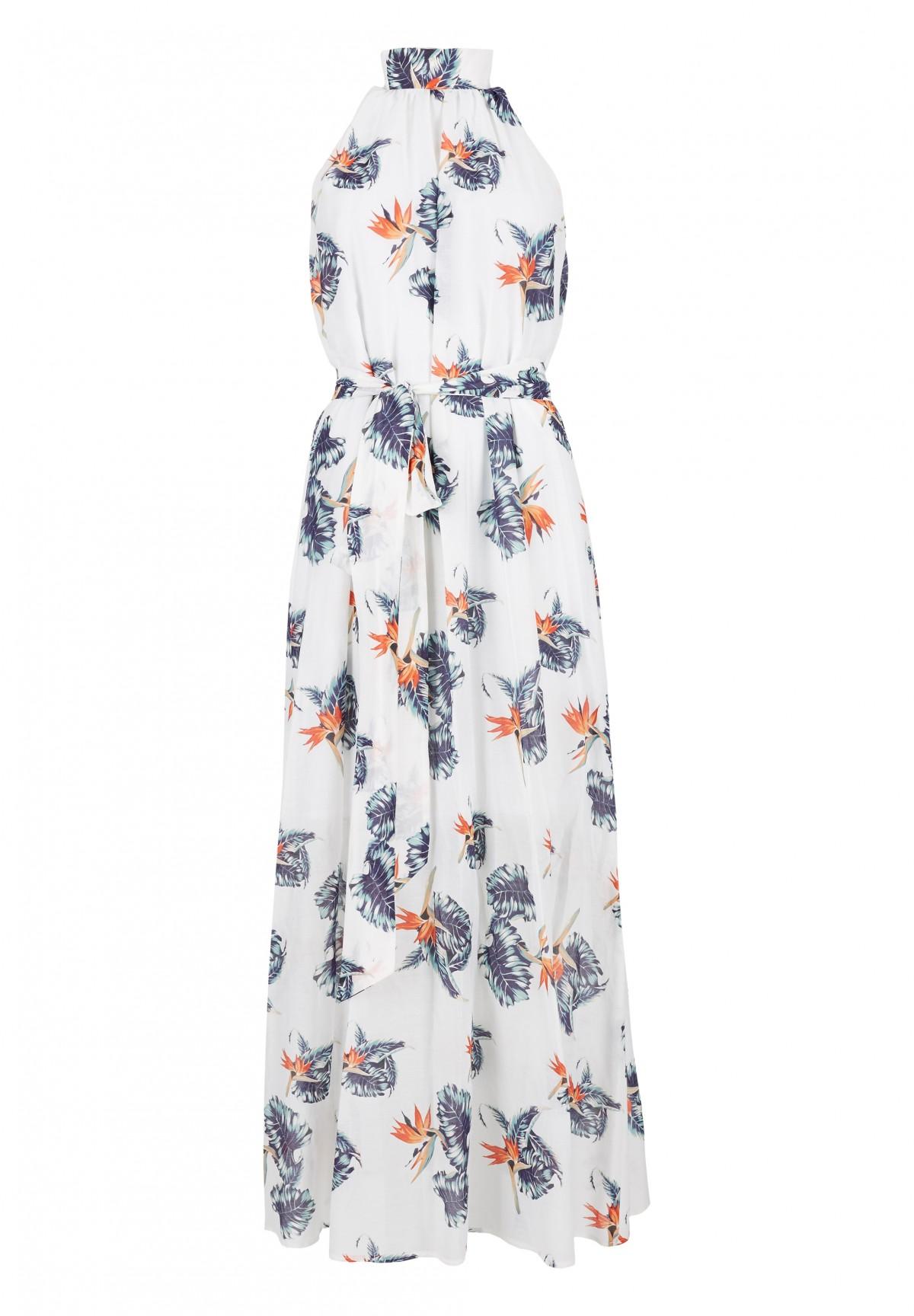 Maxi-Kleid mit floralem Muster / Maxikleid