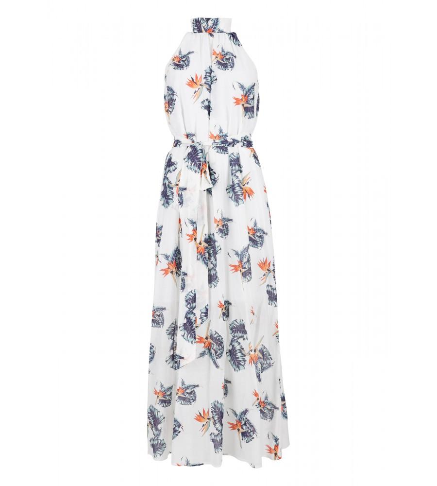 Maxi-Kleid mit floralem Muster - In diesem leichten Maxi-Kleid von Daniel Hechter haben Sie den perfekten Begleiter für den Sommer. Bodenlang, flie�end leicht und luftig kommt es daher, und sorgt dank des Taillengürtels zum Binden auch noch für eine feminine Silhouette. Dank des Materials aus hochwertigem Material-Mix verfügt es über hervorragende Trageeigenschaften, Formstabilität und Langlebigkeit. Ein Must-Have!