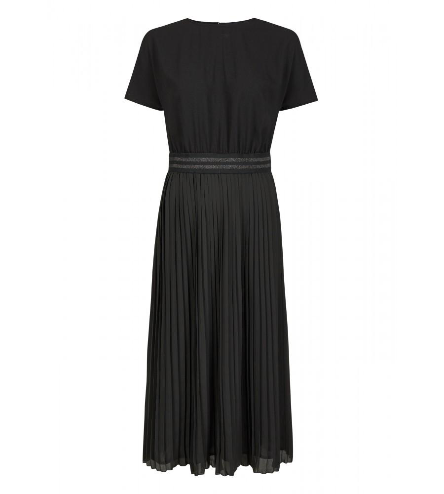 Kleid mit Zierband - Mit diesem wunderschönen Kleid von Daniel Hechter machen Sie eine gute Figur, ob im Büro oder in der Freizeit! Das Design ist gekennzeichnet durch ein hübsches Zierband um die Taille, einen Faltenrock und einen femininen Rundhalsausschnitt. Das Material aus hochwertiger Kunstfaser ist langlebig und formstabil.