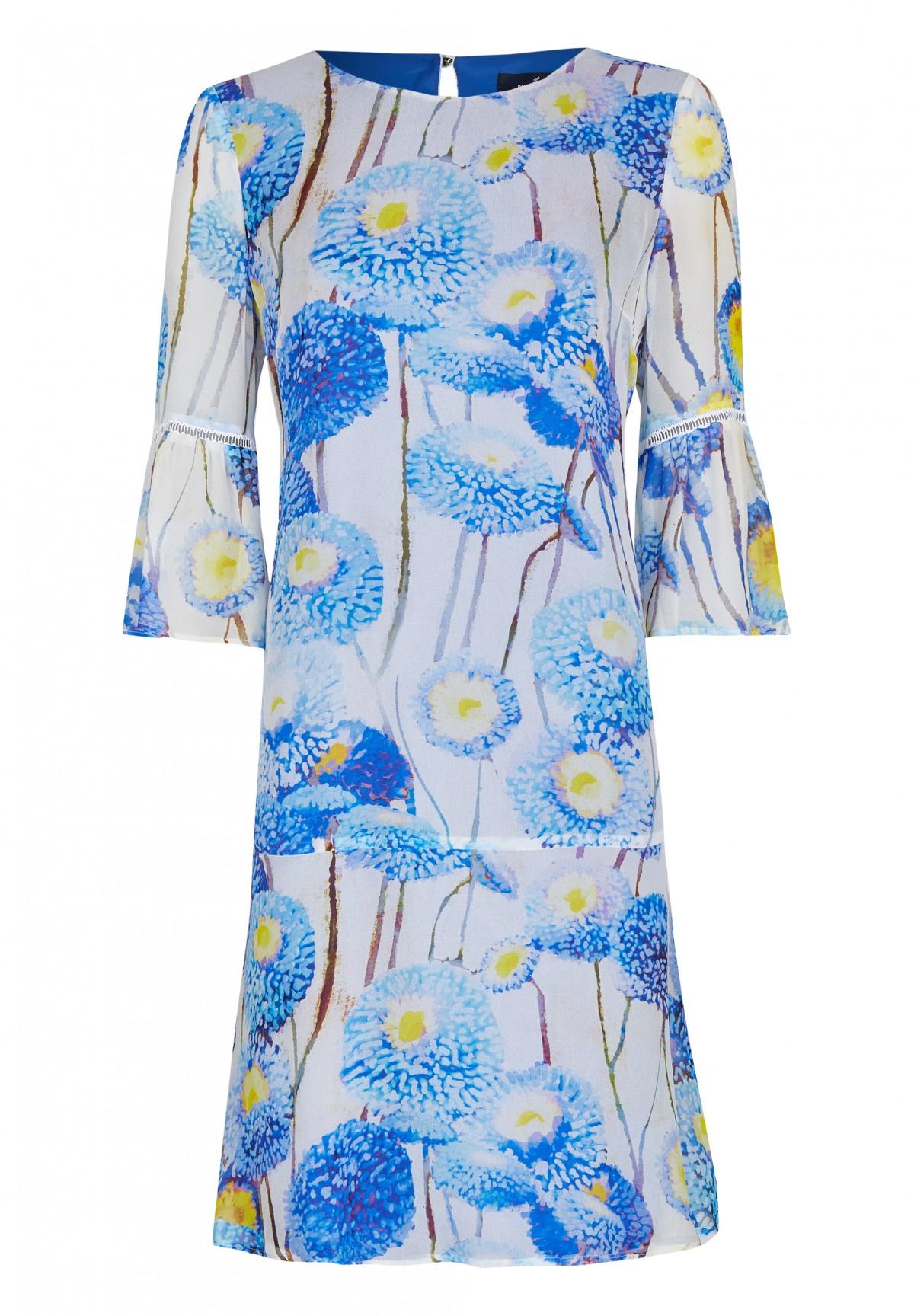 Modisches Kleid mit floralem Druck / Dress