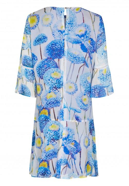 Dress, cornflower