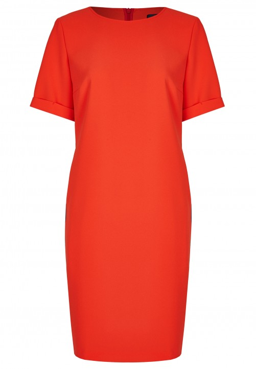 Klassisches T-Shirt-Kleid, orange red