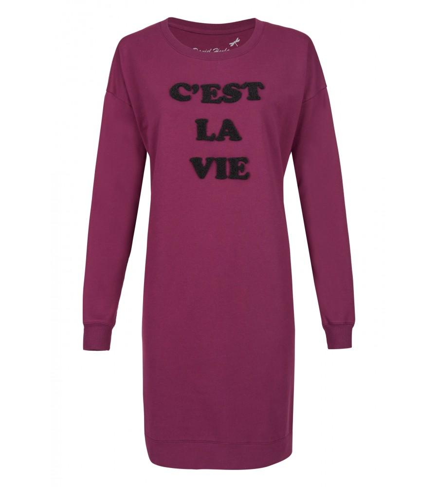 Modisches Sweatshirtkleid - Dieses Kleid ist die perfekte Ergänzung für Ihre Herbst- und Wintergarderobe. Es besteht aus einem hochwertigen Baumwoll-Mix, der höchsten Tragekomfort, Langlebigkeit und Formstabilität garantiert. Das Kleid ist mit einer Applikation verziert und wird in Europa produziert.