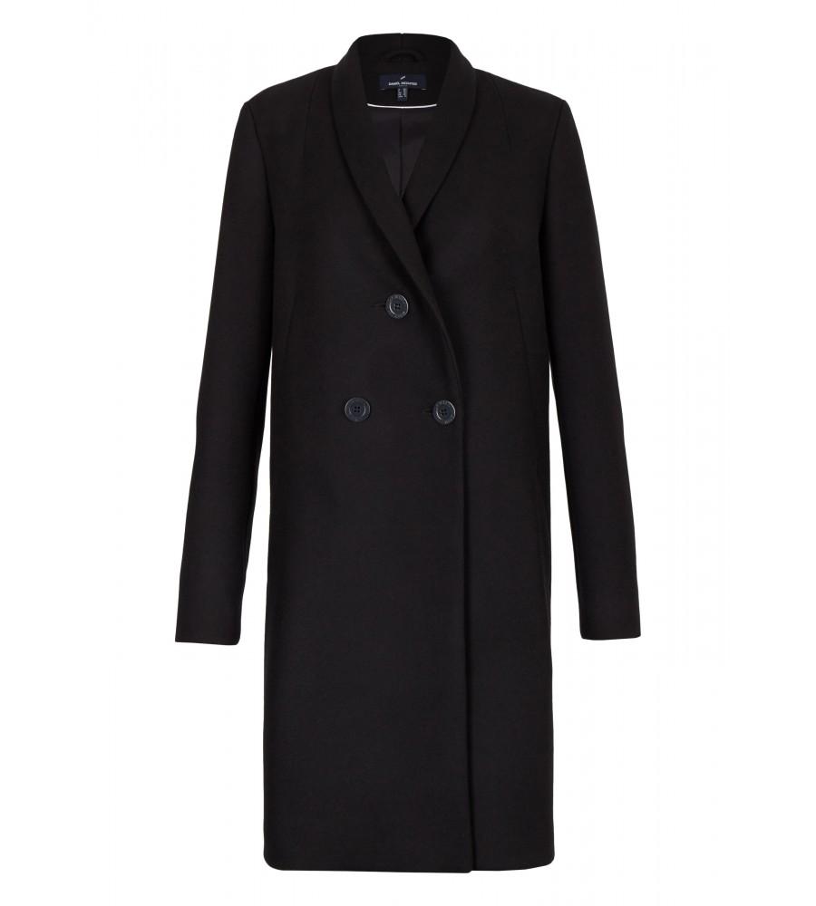 Mantel Triennat - Hechter. Sein besonderer Look ist gekennzeichnet durch Details wie den drei modisch angeordneten Knöpfen auf der Vorderseite, sowie einer unkonventionellen Kragenform. Er ist gerade geschnitten und weist eine perfekte Passform auf.