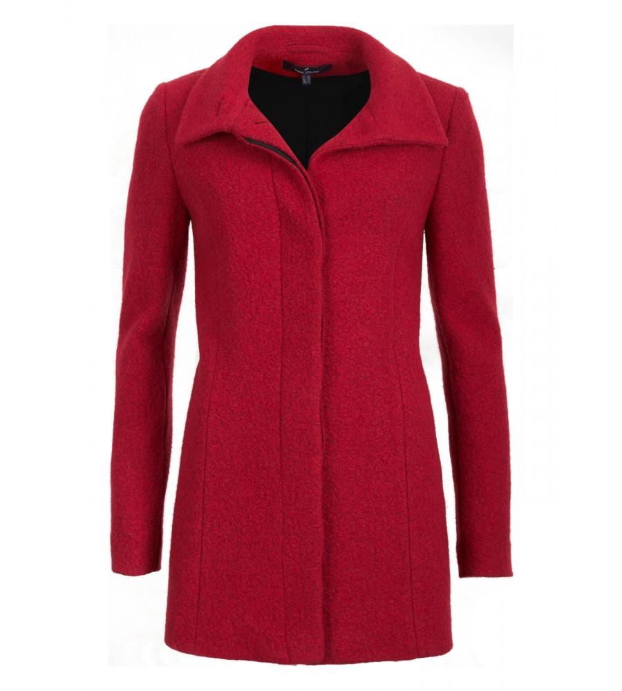 Artikel klicken und genauer betrachten! - Dieser schöne Mantel aus Bouclé-Wolle ist ein idealer Begleiter für kalte Wintertage. Der Oberstoff hat eine melierte Optik und wärmt zuverlässig durch die Wolle. Ein weiter Kragen zum Aufstellen ergänzt den Look und schützt vor kalter Luft. Ziernähte sorgen für eine feminine Silhouette. | im Online Shop kaufen