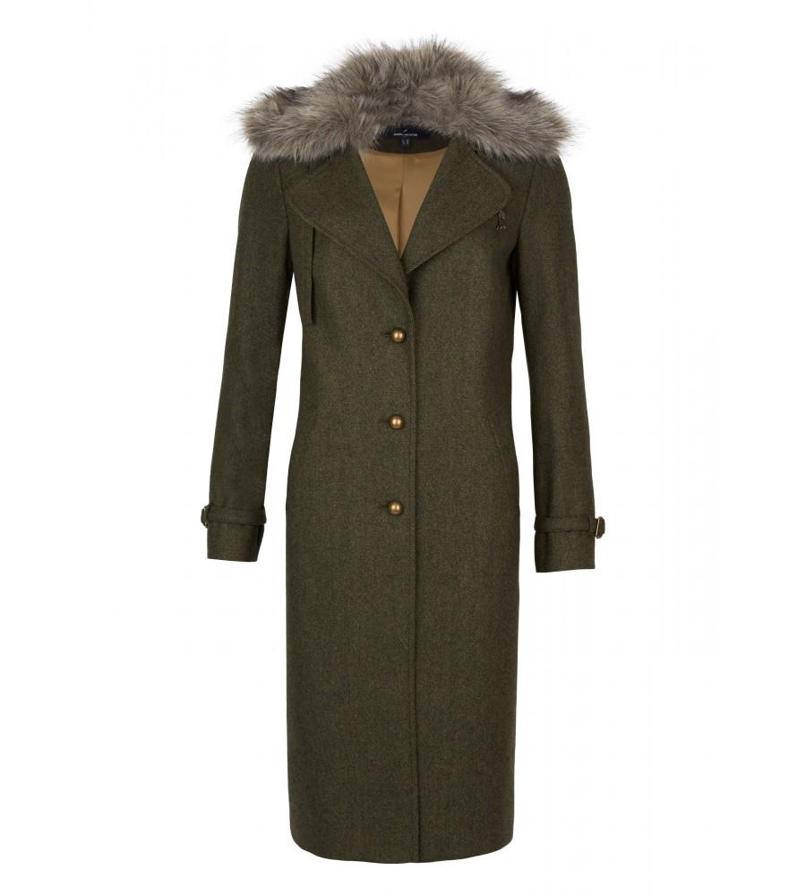 Mantel aus reiner Wolle - Dieser wunderschöne Mantel ist der perfekte Begleiter für jeden Tag! Er ist mit einer Kapuze ausgestattet und besteht aus reiner Schurwolle. Die �rmel sind mit Schnallen verziert, der Mantel lässt sich zusätzlich mit einem Band am Hals verschlie�en. Zwei seitliche Einschubtaschen runden den Look ab.