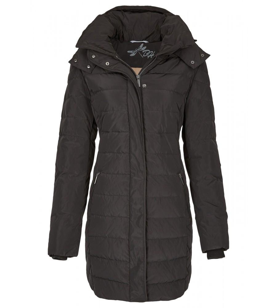 Lange Daunenjacke - Die lange Daunenjacke von Daniel Hechter ist der perfekte Winterbegleiter. Sie präsentiert sich mit einem abnehmbaren Kapuzenkragen und einem femininen, taillierten Schnitt. Die Jacke lässt sich mit verdeckten Rei�verschluss schlie�en.