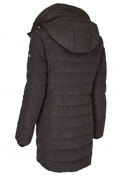 Real Down Coat, black