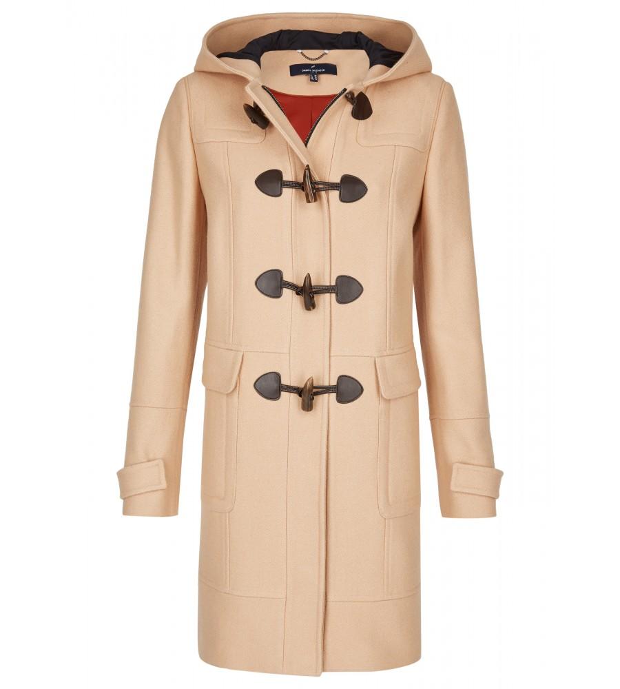 Klassischer Dufflecoat - Der Mantel im klassischen Dufflecoat-Stil ist der perfekte Begleiter für Business- und Freizeit-Outfits. Der Look entsteht durch die Knebelknöpfe, den verdeckten Rei�verschluss und den Kapuzenkragen. Ziernähte sorgen für eine schöne, feminine Optik. Modische Details runden das Design ab.