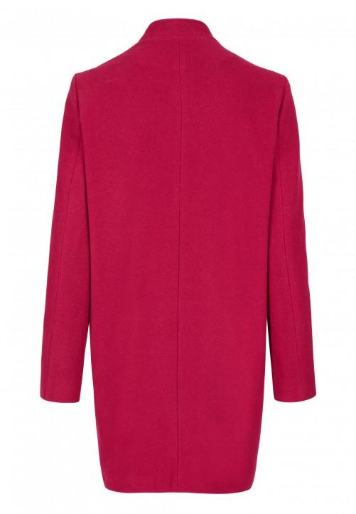 Klassischer Mantel, magenta