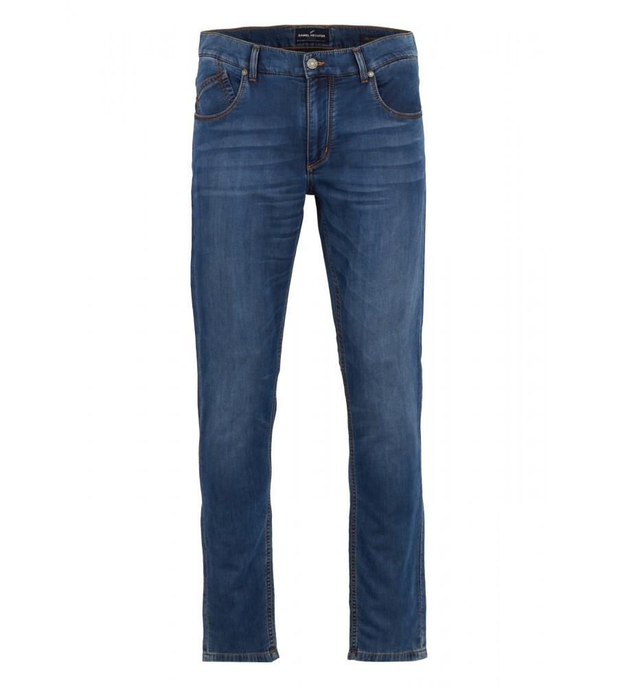 Travel-Jeans mit heller Waschung
