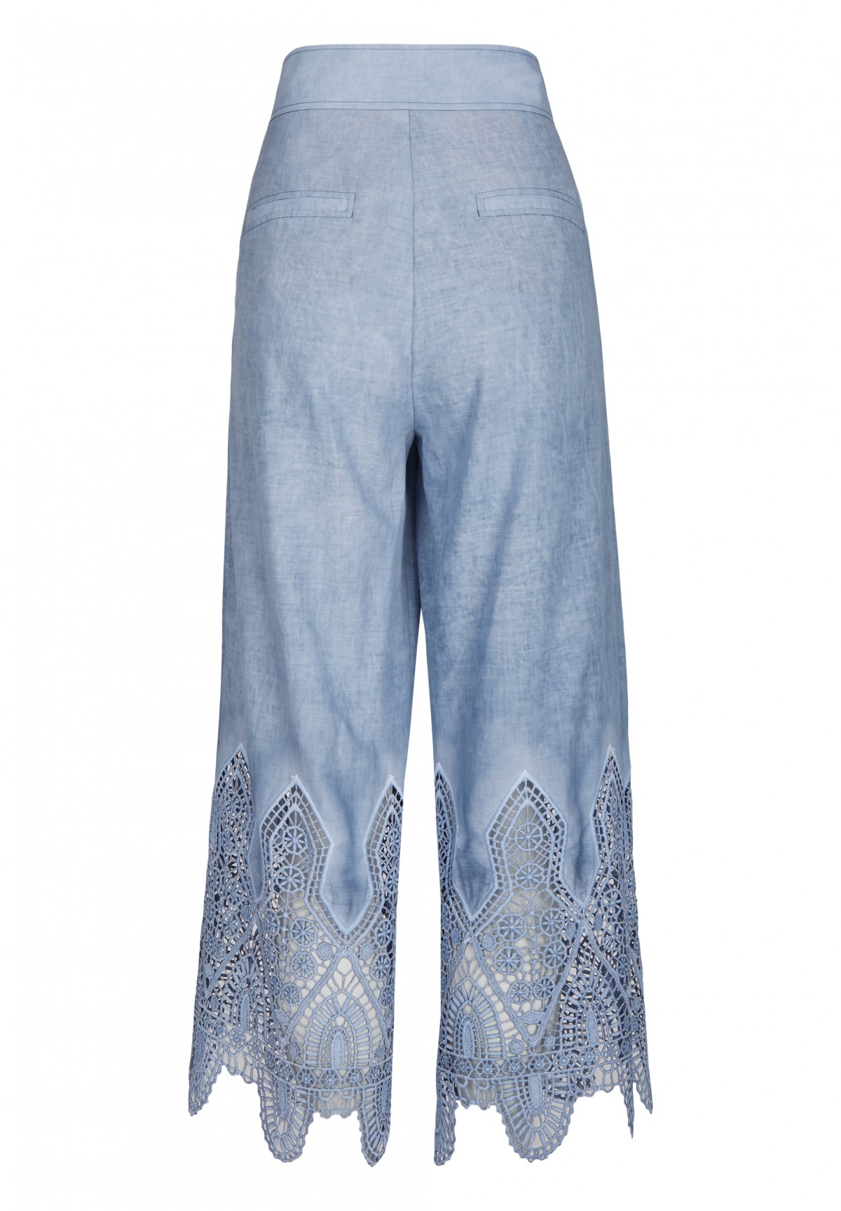 Pantalon large taille haute /