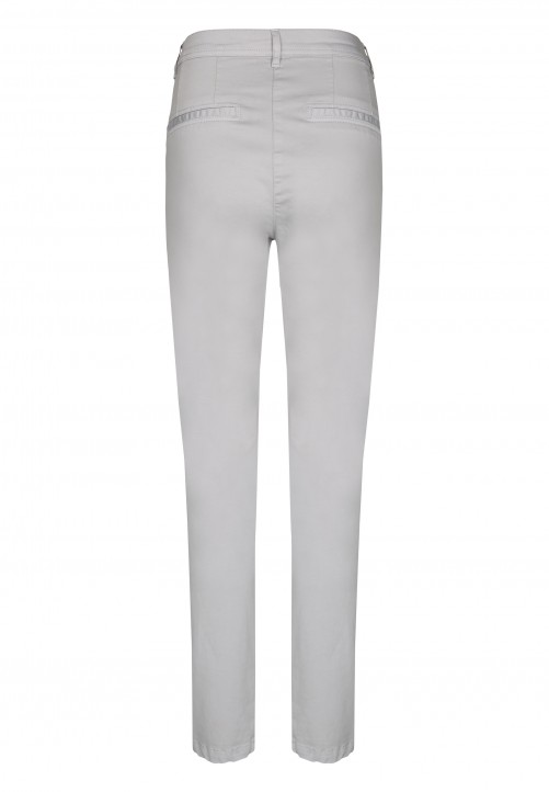 Casual Chino Pants, silver