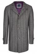 Manteau doublé à chevrons