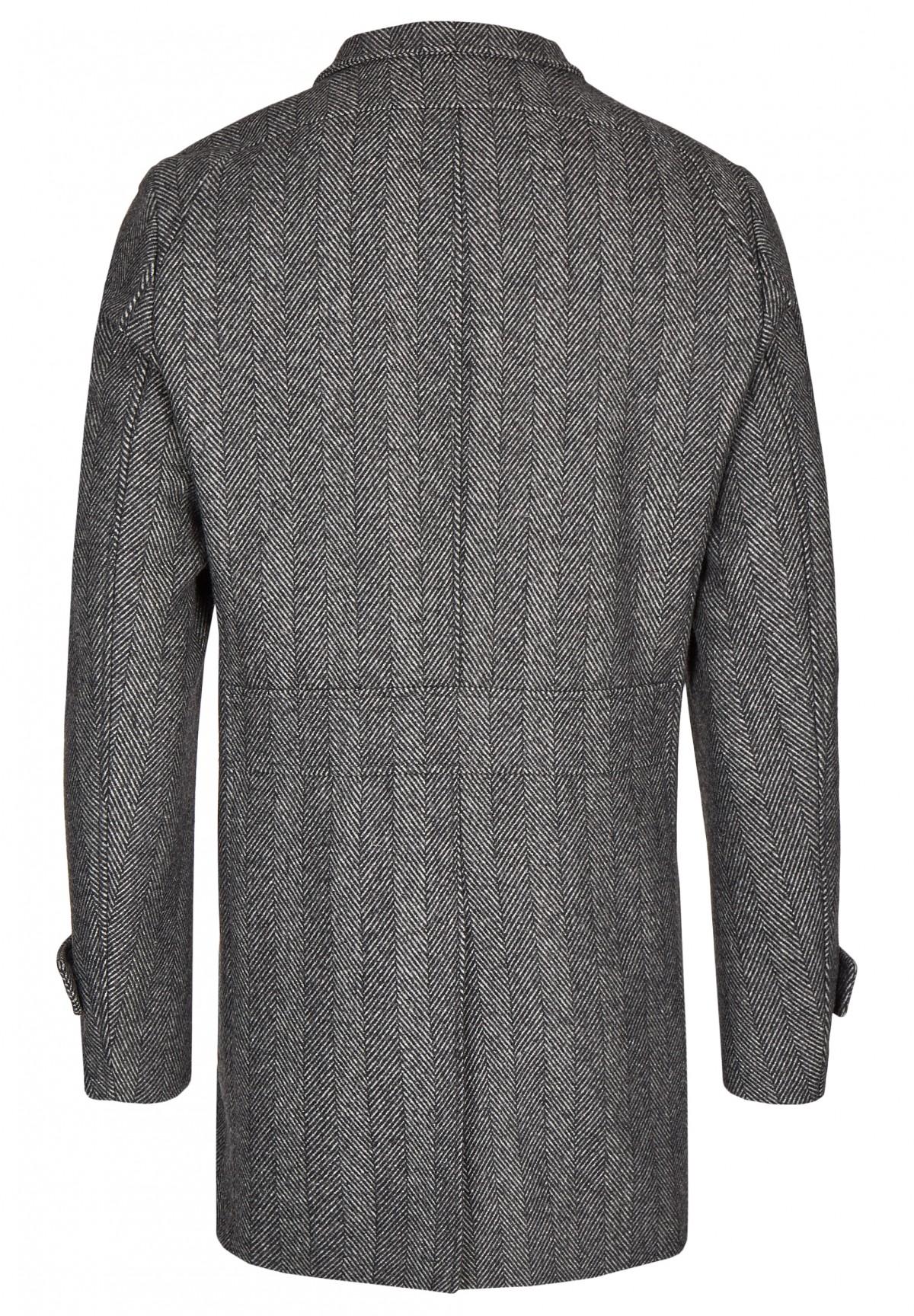 Manteau doublé à chevrons /