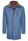 Moderner Mantel aus unifarbener Wollmischung