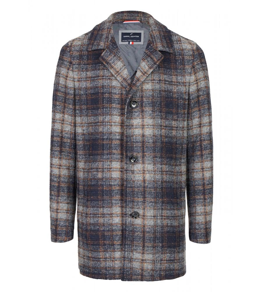 Mantel mit Karo-Muster - Mit diesem eleganten Mantel von Daniel Hechter kommen Sie stilvoll durch die kalte Jahreszeit! Der hochwertige Look ist gekennzeichnet durch das Karo-Muster, den Stehkragen, die Knopfleiste sowie zwei Einschubtaschen. Dank Schurwoll-Anteil hält er auch bei kühlen Temperaturen warm.