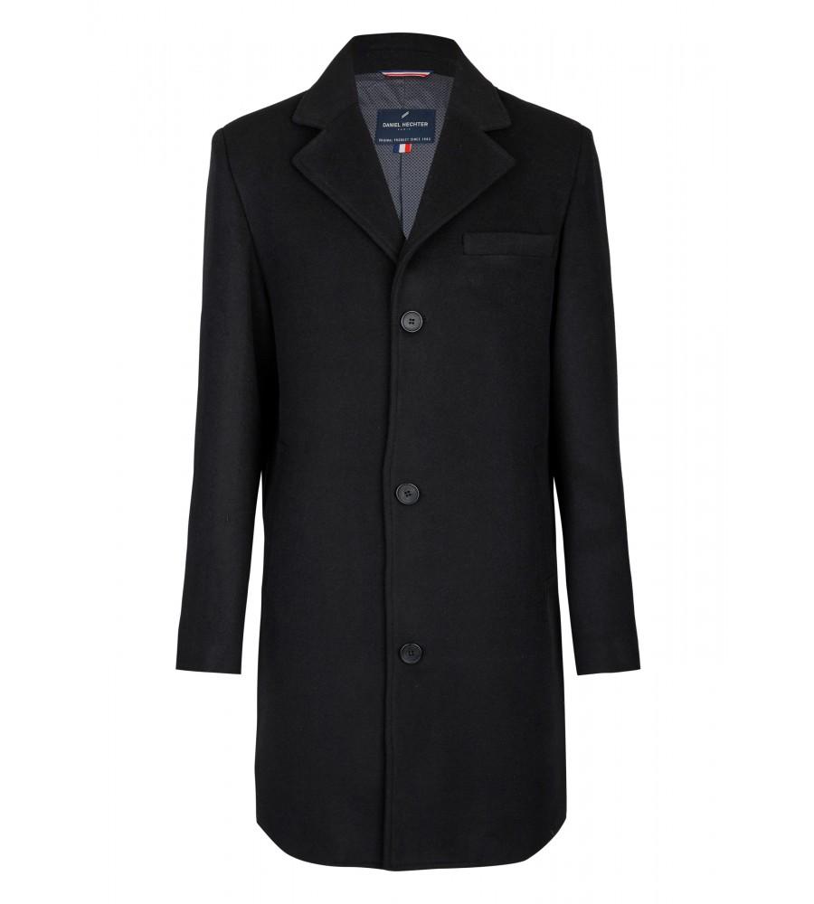Klassischer Mantel - Ein perfekter Begleiter für kalte Wintertage ist dieser klassisch-elegante Mantel von Daniel Hechter. Er wärmt angenehm durch den hochwertigen Woll-Mix und bietet eine perfekte Passform sowie höchsten Tragekomfort. Er ist mit seitlichen Eingriffstaschen und einer Brusttasche ausgestattet.
