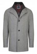 Parka 100% laine avec veste intégrée zippée