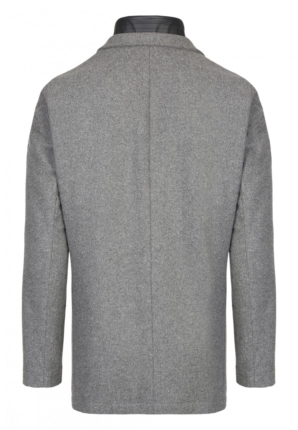 Parka 100% laine avec veste intégrée zippée /