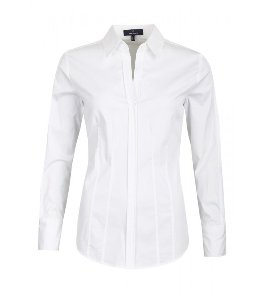 Bluse Luisant - Diese modische Bluse ist ein essentieller Bestandteil Ihrer Business-Garderobe. Sie ist modern geschnitten, mit klassischem Kragen und Ziernähten. Der Material-Mix aus Baumwolle mit Polyester und Stretch-Anteil verleiht ihr einen hohen Tragekomfort, Langlebigkeit und Formstabilität. Taillennähte sorgen für eine schlanke Silhouette.