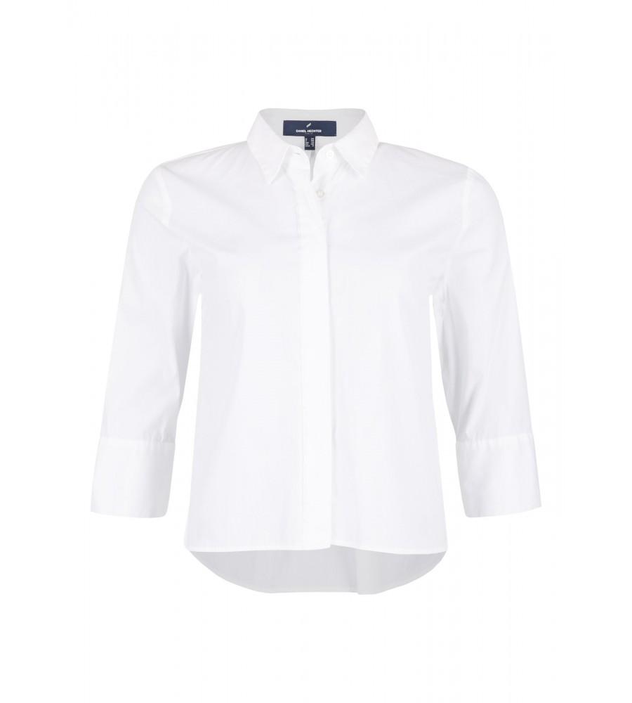 Bluse mit verdeckter Knopfleiste - Diese modische Bluse ist ein essentieller Bestandteil Ihrer Business-Garderobe. Sie ist modern geschnitten, komplett durchgeknöpft und verfügt über einen Hemdkragen. Zum Must-Have wird sie durch die verdeckte Knopfleiste. Die Bluse passt perfekt zur Jeans oder für Ihren Business-Look. Das Material aus Baumwolle mit Kunstfaser-Anteil ist besonders hochwertig verarbeitet und verspricht ein angenehmes Tragegefühl.