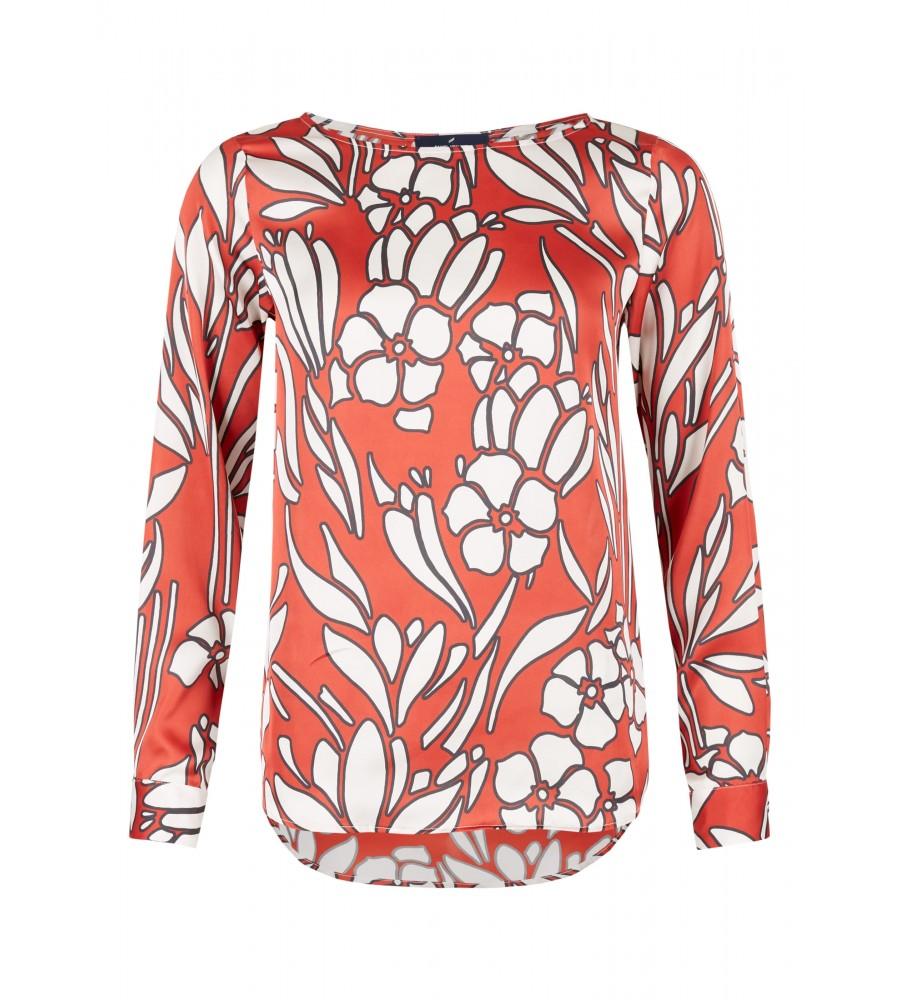 Hochgeschlossene Muster-Bluse - Lassen Sie diese Bluse von Daniel Hechter zum Highlight Ihres Business-Looks werden! Die trendige Bluse ist hochgeschlossen geschnitten und begeistert durch das zweifarbige Muster. Sie besteht aus hochwertiger Kunstfaser, die einen hohen Tragekomfort verspricht. Sie lässt sich ebenfalls toll zu Jeans-Looks kombinieren.