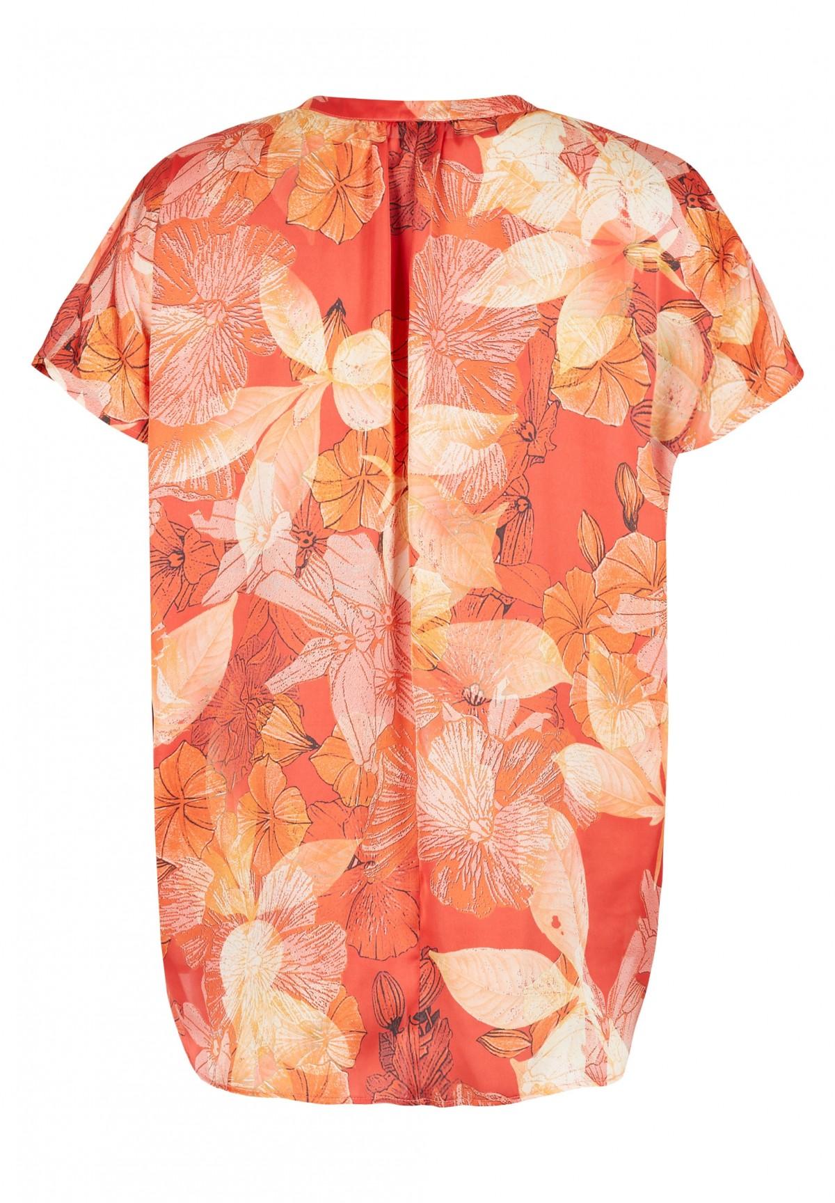 Bluse mit grafischem Muster / Tunika
