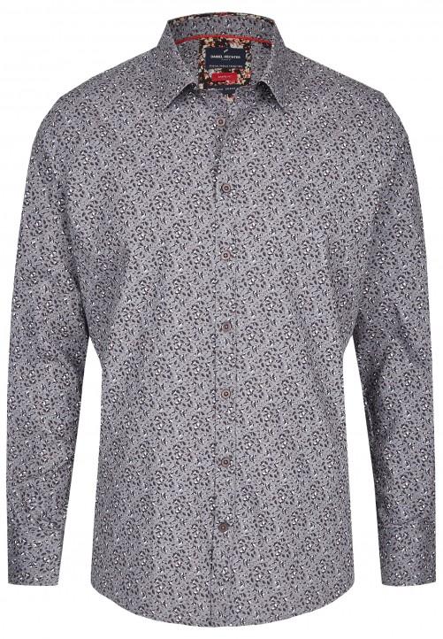 Freizeithemd mit floralem Muster, charcoal