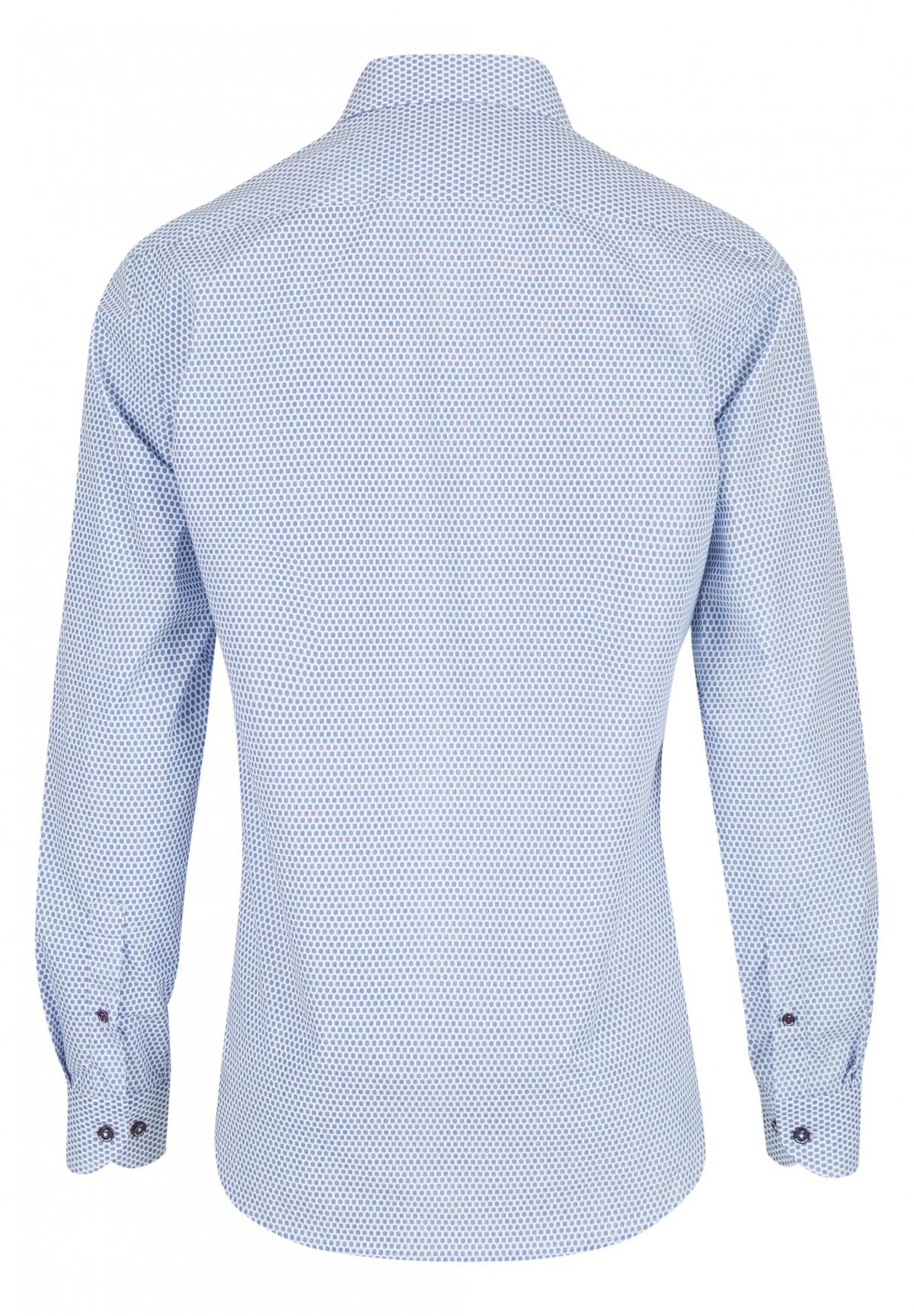 Freizeit-Hemd mit Tupfen-Druck / KENT MODERN FIT