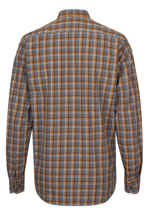 Freizeithemd mit Karo-Muster, senf