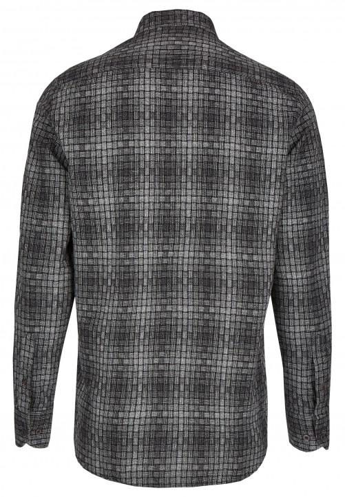Freizeithemd mit strukturiertem Muster, black