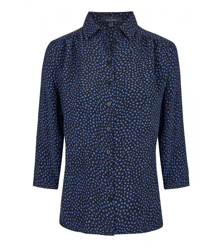 Bluse mit Punkte-Muster - Diese modische Bluse ist ein essentieller Bestandteil Ihrer Business-Garderobe. Ihren modernen Look erhält sie durch den perfekten Schnitt, Raffungsdetails sowie das Punktemuster. Sie lässt sich toll zu Business-Outfits oder Jeans kombinieren.