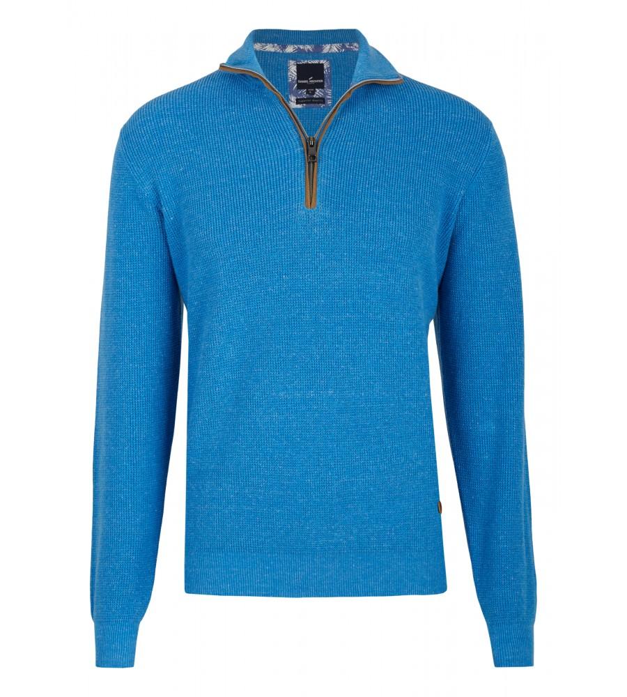 Pullover mit Troyer Kragen