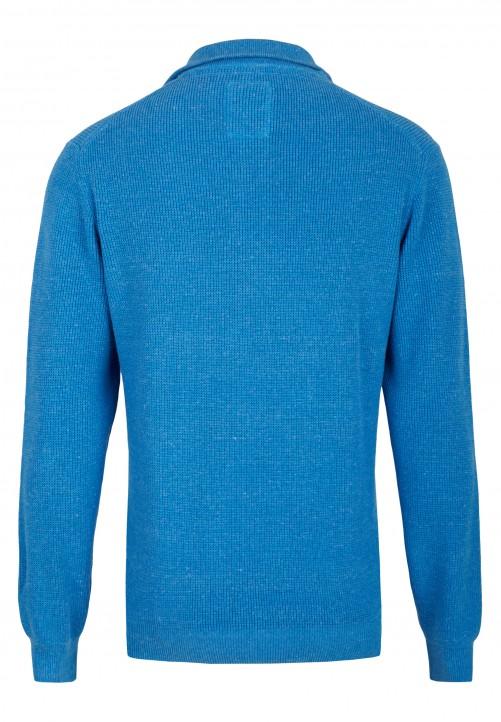 Pullover mit Troyer-Kragen, kOEnigsblau melange