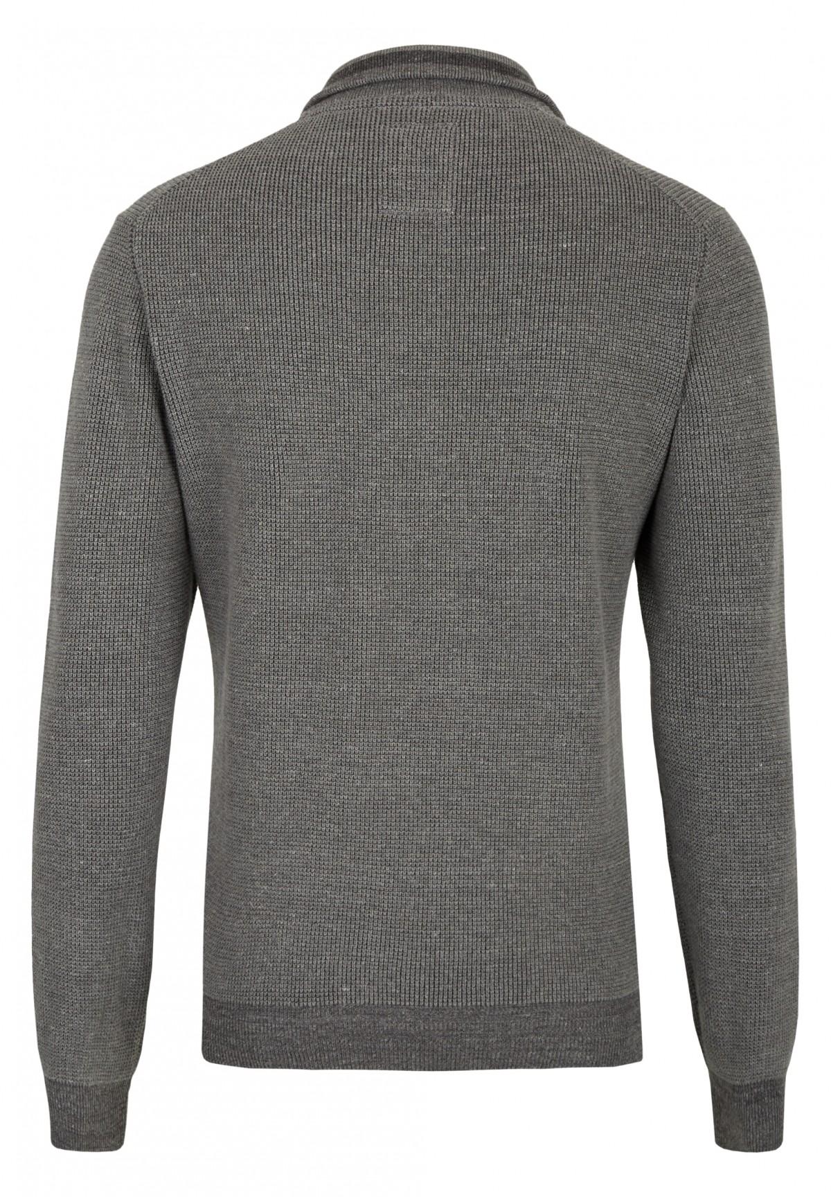 Pullover mit Troyer-Kragen / Pullover mit Troyer-Kragen