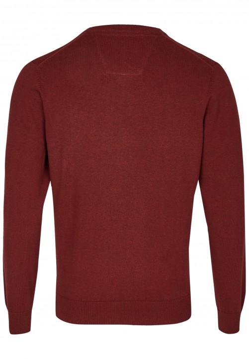 Essential-Pullover, dark red