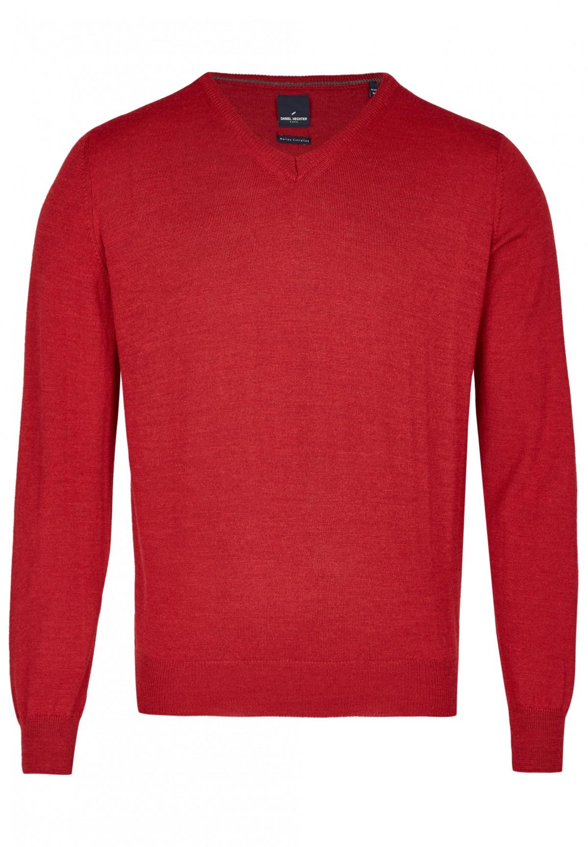 Merino Pullover mit V-Ausschnitt / Merino Pullover mit V-Ausschnitt