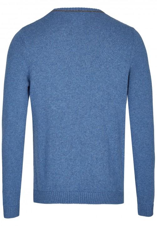 Klassischer Strickpullover, steel blue