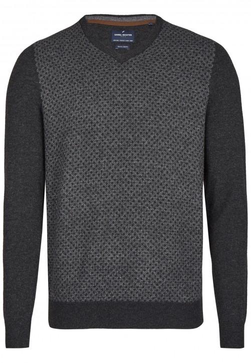 Pullover mit V-Ausschnitt, anthracite