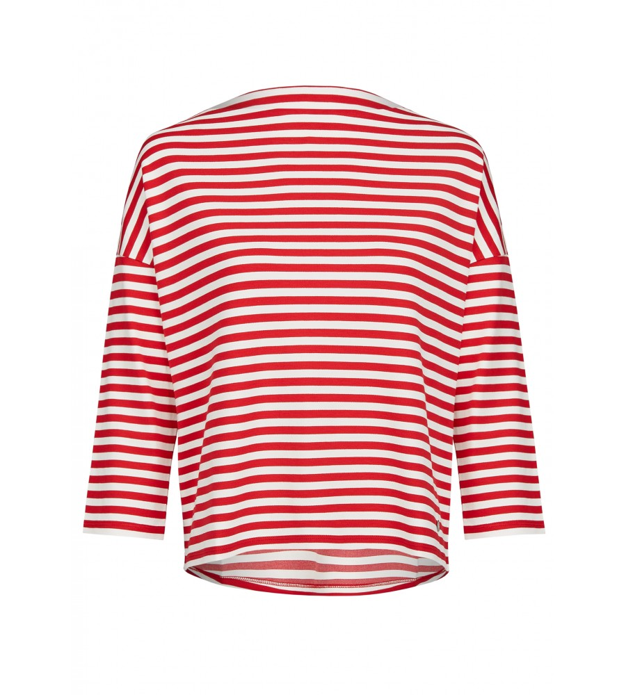 Klassisches Shirt - Dieses klassische Shirt von Daniel Hechter ist der perfekte Begleiter für Büro und Freizeit! Es begeistert mit seinem geraden Schnitt, dem hübschen Streifenmuster und einem femininen U-Boot-Ausschnitt. Der Stoff aus Viskosemix bietet höchsten Tragekomfort. Das Shirt wird in Europa produziert.